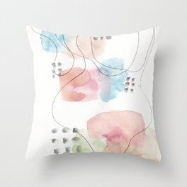 180805 Subtle Confidence 11| Colorful Abstract |Modern Watercolor Art Throw Pillow