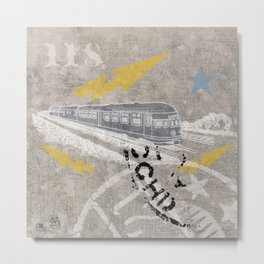 Train Of Thought Derailed Metal Print