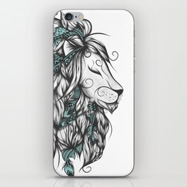 Poetic Lion Turquoise iPhone Skin