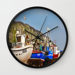 Fisherman's Beach Wall Clock