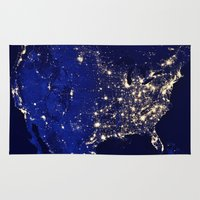 america Area & Throw Rugs featuring America by 2sweet4words Designs
