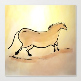 Ancient horse of Lascaux Canvas Print