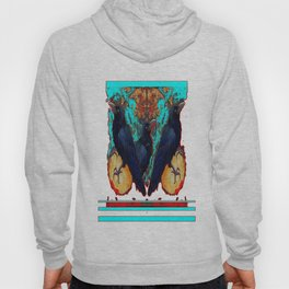 Crow-Ravens Family Red Southwest Style Abstract Hoody