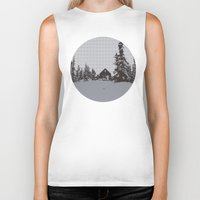 cabin Biker Tanks featuring cabin love by ptarmigan