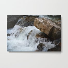 White Water Stream Metal Print