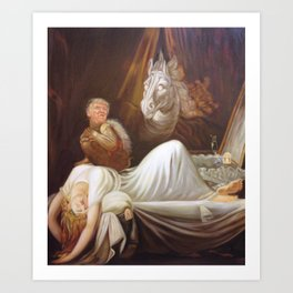 Donald Trump as incubus Art Print