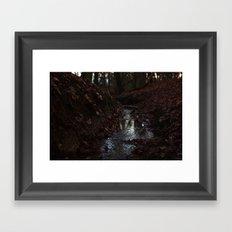 Red Stream Framed Art Print