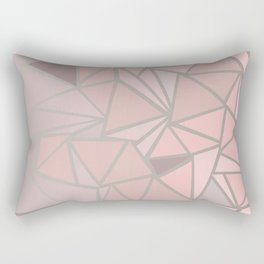 Rose Gold Rectangular Pillow