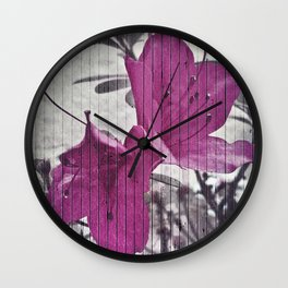 Vintage Style Flower Photo Wall Clock