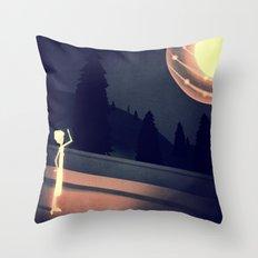 a visitation  Throw Pillow