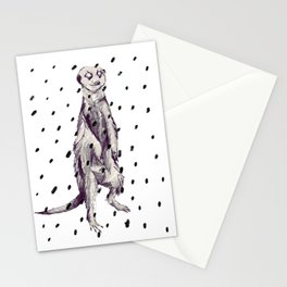 Meerkat in the Rain Stationery Cards