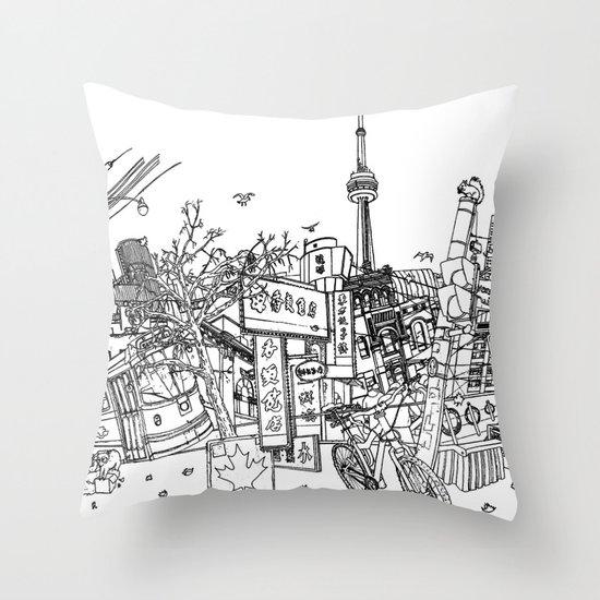 Toronto! (Dark T-shirt Version) Throw Pillow