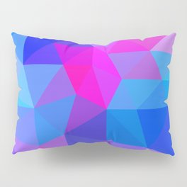 Magenta Blacklight Low Poly Pillow Sham
