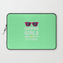 Summer Girls in OCTOBER T-Shirt for all Ages Laptop Sleeve
