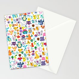 poke collection 4 Stationery Cards
