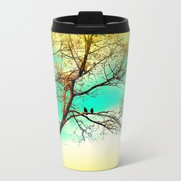 Two Crows on a Branch Travel Mug