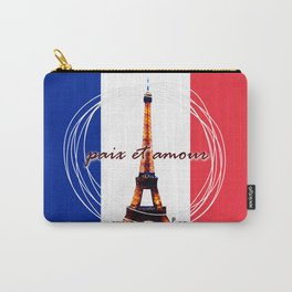 Peace and Love in France Carry-All Pouch