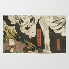 Utagawa Kuniyoshi  - Mitsukuni And The Skeleton Rug
