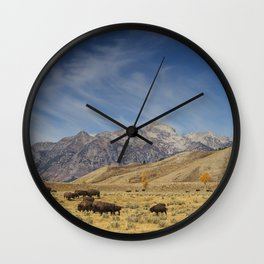 Bison The National Mammal Wall Clock