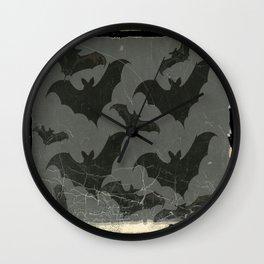 ANTIQUE  SHABBY CHIC  BATS ART DESIGN Wall Clock