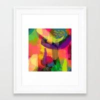 fruits Framed Art Prints featuring FRUITS by Rebecca Allen