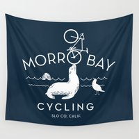 cycling Wall Tapestries featuring Morro Bay Cycling by Matthew Fleming