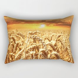 wheat field Rectangular Pillow