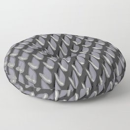 Just Grate Abstract Pattern With Heather Background Floor Pillow