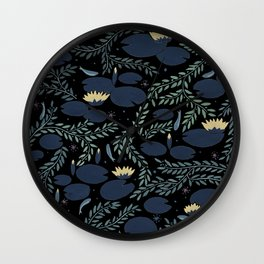 night waterlily Wall Clock