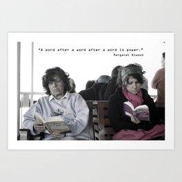 """A word after a word after a word is power.""   Art Print"