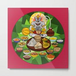Hanuman's Meal Metal Print