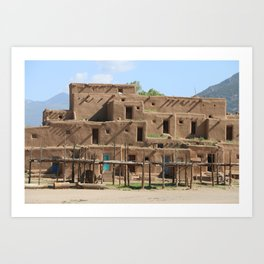 A Taos Pueblo Building Art Print