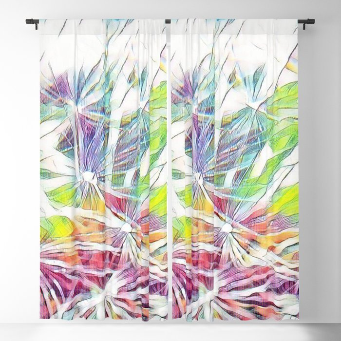 Magic Wishes - Abstract Art by Fluid Nature Blackout Curtain by fluidnature