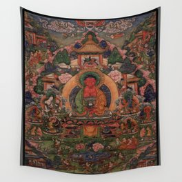 Buddha Amitabha in His Pure Land of Suvakti Wall Tapestry