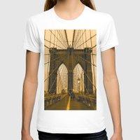 brooklyn bridge T-shirts featuring Brooklyn Bridge by Félix Pagaimo