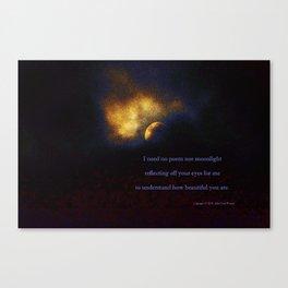 """""""Suspension Moon #120"""" with poem:  No Poem Canvas Print"""