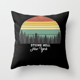 Stone Hill New York Throw Pillow