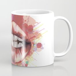 Red Lips stylized art Coffee Mug