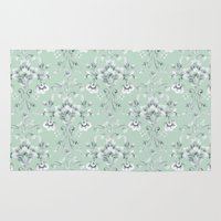 damask Area & Throw Rugs featuring Damask... by Catherine Ann Lewis