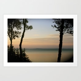 Sunset on the Saint Lawrence River Art Print