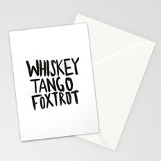 Whiskey Tango Foxtrot Stationery Cards