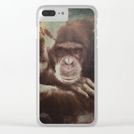 Almost Human Clear iPhone Case
