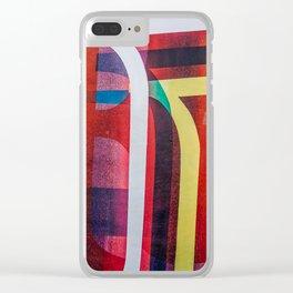 Graffiti stripes Clear iPhone Case