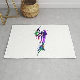 Jin Kazama Colorful ink Rug