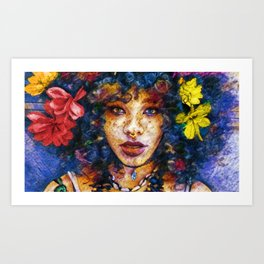 'Started At the Bottom,' African American Female Portrait Art Print