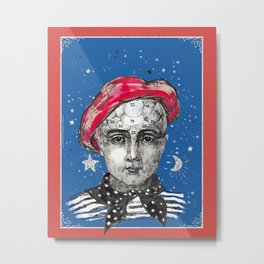 French style - Phrenology Metal Print