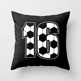 Soccer Lover Player Sixteen 16th birthday Gift Throw Pillow