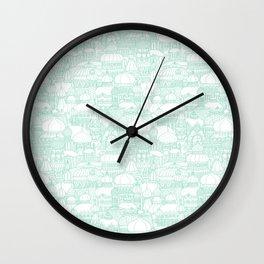Delightful Domes - Mint Wall Clock