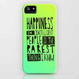 Hemingway: Happiness iPhone Case