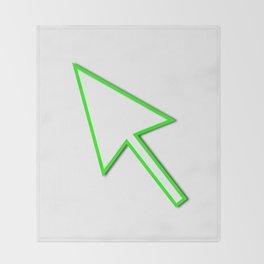 Cursor Arrow Mouse Green Line Throw Blanket
